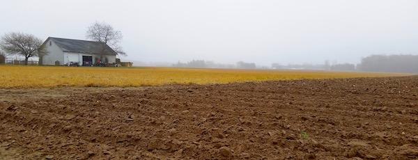 Spring harrow on Oregon Road.