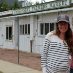 Katie Baldwin & Amanda Merrow in late April at the Amagansett Farmers Market