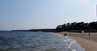 Quitting time at Veterans Beach, Mattituck.