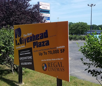 Riverhead Plaza is looking for tenants when the property is redeveloped.