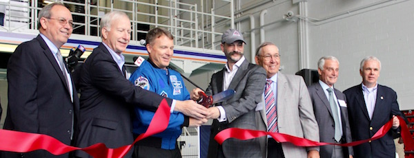 On June 16, Luminati Aerospace executives cut a ribbon ceremonially opening Plant 6 at the former Calverton Grumman Plant.