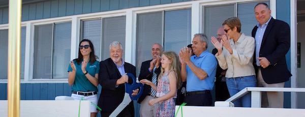 At the Tiana Bayside Marine Center grand opening June 28.
