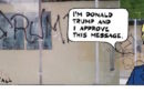 "From Ted Rall's blog: ""Within days of Donald Trump's election victory, racist and anti-Semitic graffiti appeared around the United States. Aside from a curt ""don't do it"" in response to an interview question, the president-elect has not disavowed his alt-right supporters."""