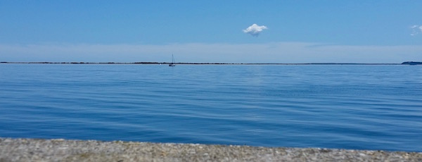 From the Orient Causeway, Monday afternoon.