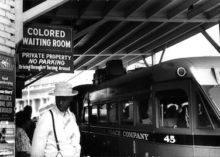 Jim Crow-era signage in Durham, NC | Georgetown University photo