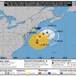 The National Hurricane Center's 5 a.m. Tuesday Forecast Cone for Hurricane José.