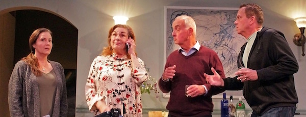 """Carolann Dipirro, Diana Marbury, Terrance Fiore and Edward A. Brennan in HTC's new production of """"Clever Little Lies."""""""