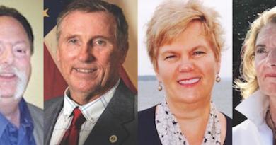 Southold Town Board candidates Bob Ghosio, Jim Dinizio, Debbie O'Kane and Mary Eisenstein.