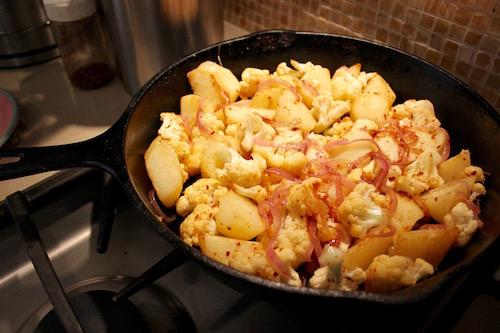 Cauliflower and Potato Braise