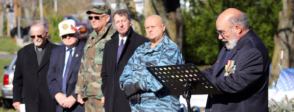 Officers of the Mattituck American Legion at this year's Veterans Day service.