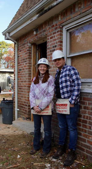 Melissa and Kyle Lohr start work on their new home.