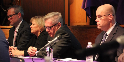 Members of the Southampton Opioid task force listened to suggestions from the crowd.