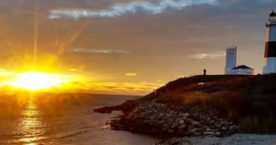 Dawn at the Montauk light.