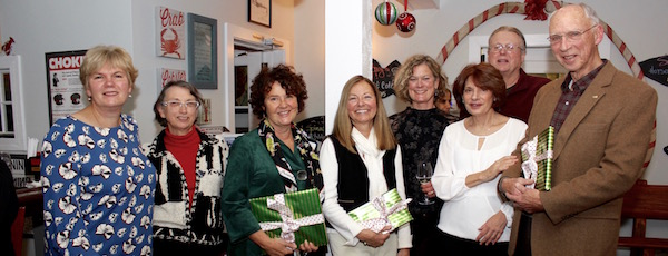 Honorees at North Fork Audubon's holiday party Dec. 3.