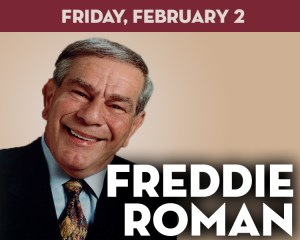 Comedian Freddie Roman at the Suffolk Theater