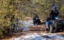 State Troopers Fabio Daino and Peter Nunziata patrol the pine barrens.