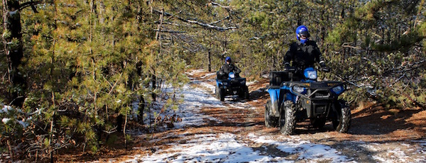State Troopers Fabio Daino and Peter Nunziata patrol the pine barrens.