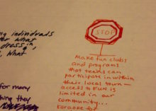 More student comments.
