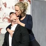 "Tristan Vaughan and Tina Jones in HTC's production of ""Venus in Fur,"" opening Jan. 11."
