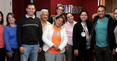 HRHCare Health Promoters meet monthly at the health clinic network's Southampton office.