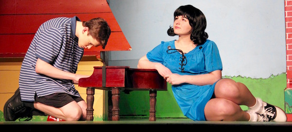 Ben Eager as Schroeder and Leah Kerensky as Lucy