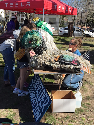 "The Surfrider Foundation's shotgun shell duck at Southampton Arts Center's ""Earth Days"""