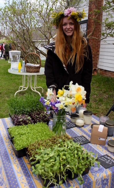 Savannah Calderale of Down to Earth at the Charnews Farm agricultural center on Youngs Avenue in Southold, where she's planning a pop-up farm stand this summer.