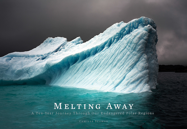 """The cover of Camille Seaman's book """"Melting Away."""""""