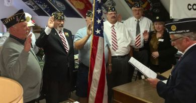 New officers of the Mattituck American Legion are sworn in on May 9.   photos courtesy Mattituck American Legion
