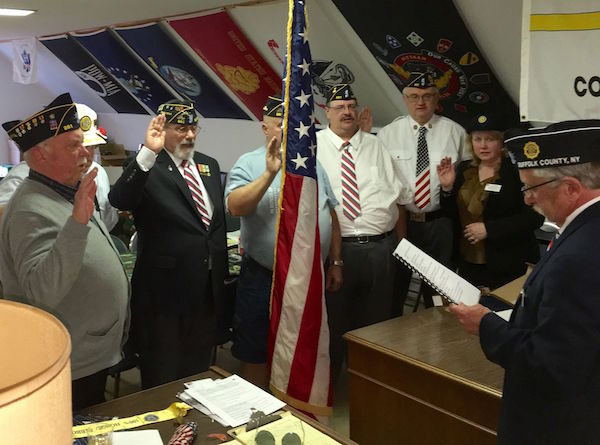 New officers of the Mattituck American Legion are sworn in on May 9. | photos courtesy Mattituck American Legion