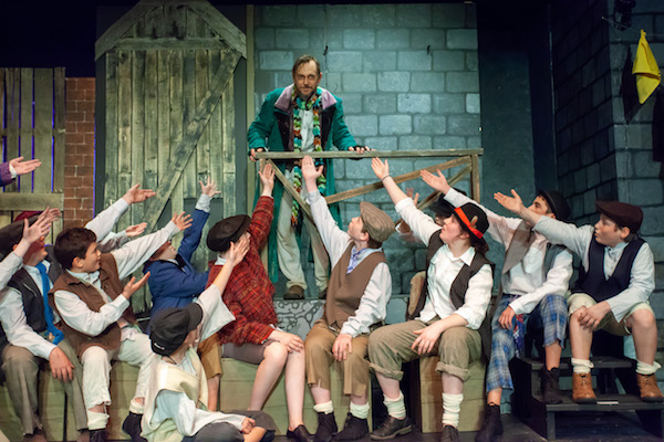 """Fagin's gang salutes their ringleader in NFCT's production of """"Oliver!""""   Katharine Schroeder photo for NFCT"""