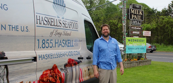 Pete Haskell's Haskell's Seafood is launching a Community Supported Fishery program this summer, with stops including The Milk Pail in Water Mill