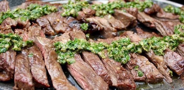 miso marinated skirt steak