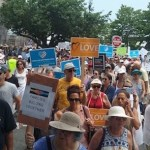 At the July 4 march in Downtown Sag Harbor