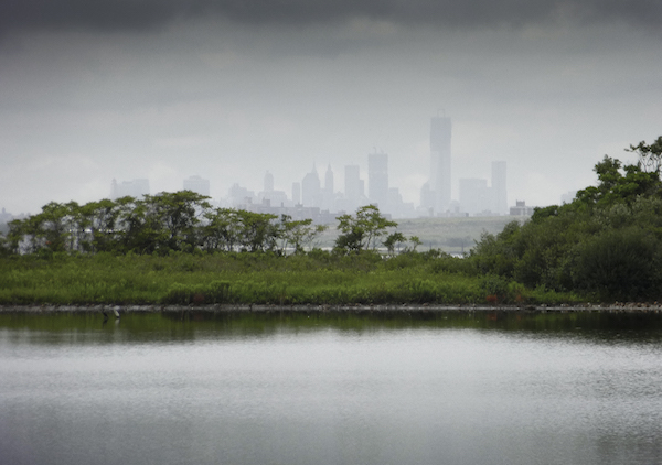 Thomas Halaczinsky's photograph of the Manhattan skyline from Jamaica Bay