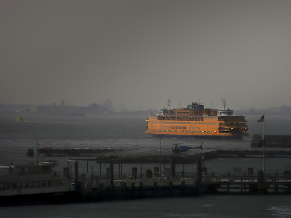 Thomas Halaczinsky's photograph of the Staten Island Ferry in New York Harbor