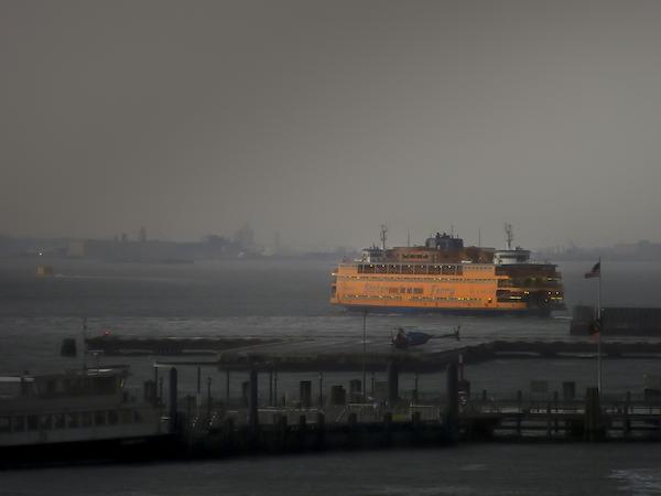 Thomas Halaczinsky's photograph of the Staten Island Ferry in New York Harbor