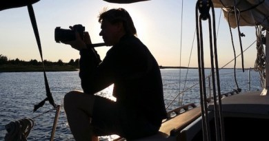 Thomas Halaczinsky on board Sojourn | photo courtesy Thomas Halaczinsky