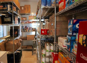 Inside the Springs Food Pantry.