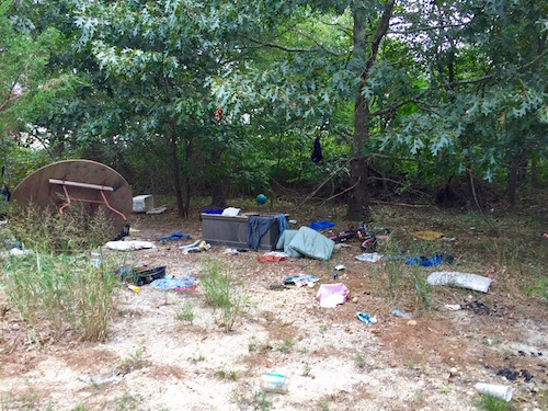 Dumping and campsites are an ongoing issue on the property.