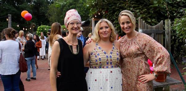 Sarah Cohen, Liza Tremblay and Amanda Fairbanks at the grand opening of The SHED