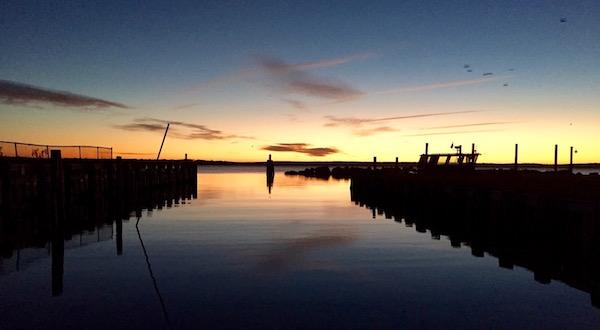 Sunday morning at the New Suffolk Boatramp