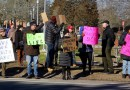 Protesters gathered outside Stony Brook Southampton College in January of 2017 vowing to fight for health care. This year, many of the same people helped to organize an information session on a dramatic change to health insurance in New York.