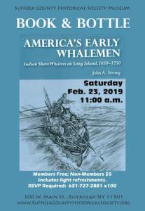 """Book & Bottle: """"America's Early Whalemen"""" with John Strong at Suffolk County Historical Society"""