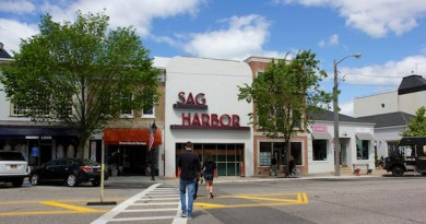 The Sag Harbor Cinema sign has returned to the new façade of the rebuilt cinema, a year-and-a-half after a catastrophic fire.