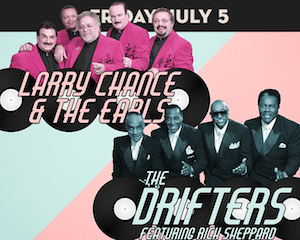The Drifters & Larry Change and the Earls perform at The Suffolk Theater