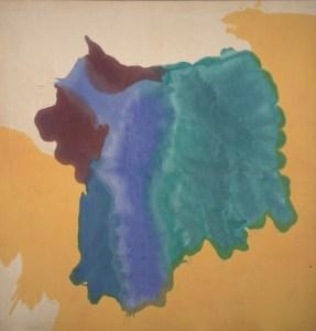 """Helen Frankenthaler's """"Low Tide,"""" oil on canvas, 1963"""