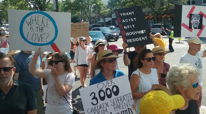 Crowds gathered in downtown Sag Harbor Sunday for the second annual Walk for Interdependence in support of immigrants.