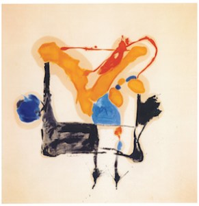 Helen Frankenthaler (American, 1928–2011), Orange Breaking Through, 1961. Oil on canvas, 95 x 93 inches. Private Collection.