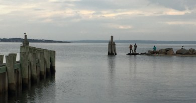 Fishermen at the Boat Ramp, New Suffolk